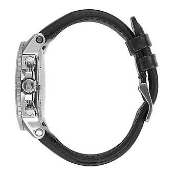 Nixon Ranger Chrono Leather Watch - Black