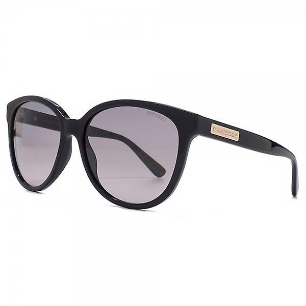 Jimmy Choo Lucia Cateye Sunglasses In Black Gold Glitter