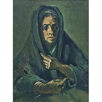 Vincent Van Gogh - Peasant Woman with Dark Hood, 1885 Poster Print Giclee