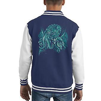 Cthulhu A Gott über das Meer Kid Varsity Jacket