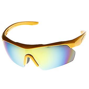 Action Sport halbe Rahmen halb randlose Spiegel Objektiv Sonnenbrillen