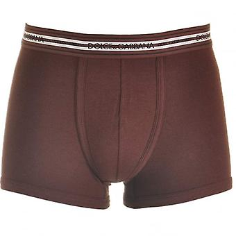 Dolce & Gabbana Stretch Ribbed Cotton Regular Boxer, Bordeaux, Small