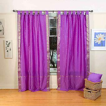 Indo-Lavendel Tab Top Sari schiere Vorhang (43 Zoll x 84 in.)