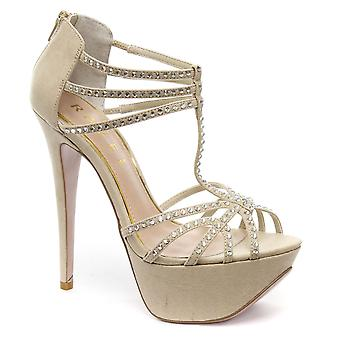 Ravel Lolly Champagne Womens Strappy Sandals