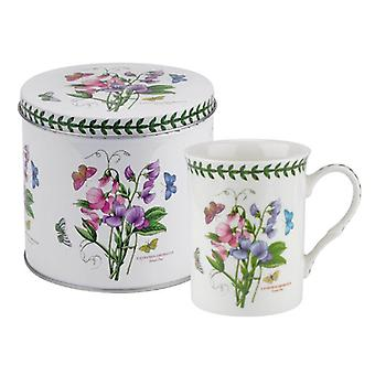 Portmeirion Botanic Garden Sweet Pea Mug and Tin Set