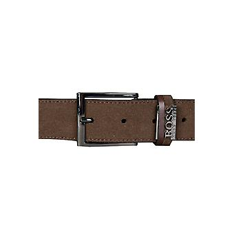 BOSS HUGO BOSS BLACK Genuine Leather Belt In Brown SABIT 50286231