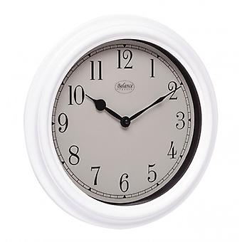 Balance wall clock 35 cm Analogue White
