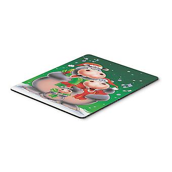 Hippo Family Caroling Mouse Pad, Hot Pad or Trivet