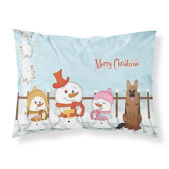 Merry Christmas Carolers Schäferhund Stoff Standard Kissenbezug