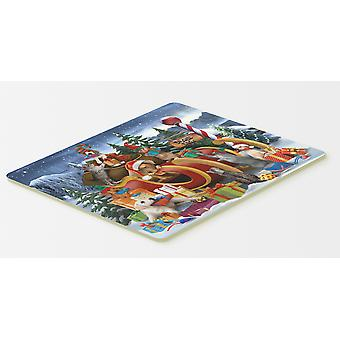 Animals Opening Christmas Presents Kitchen or Bath Mat 20x30