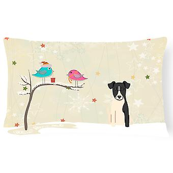 Christmas Presents between Friends Smooth Fox Terrier Canvas Fabric Decorative P