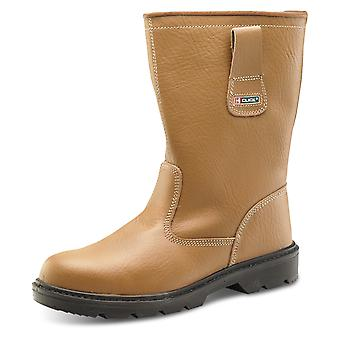 Click Leather Upper & Lined Rigger Boot Full Safety S1P Src - Rbls