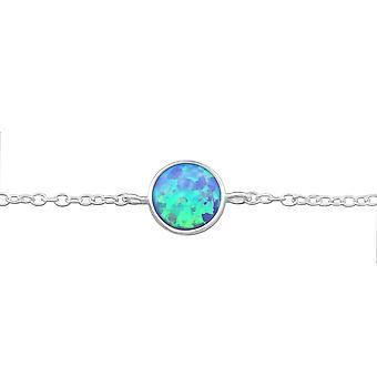 Round - 925 Sterling Silver Chain Bracelets - W31551x