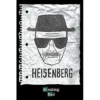 Breaking Bad - Heisenberg schets Poster Poster Print by