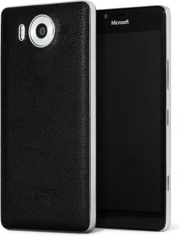 Mozo véritable Qi Wireless Charging couverture affaire avec NFC pour Microsoft Lumia 950 950BBSWN - noir   argent -