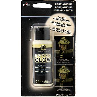 FolkArt Super Glow Acrylic Glow-In-The-Dark Paint Carded 2oz-Green FA5143