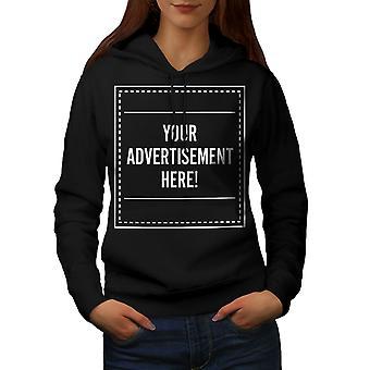 Advertisement Here Funny Women BlackHoodie | Wellcoda
