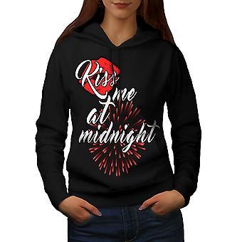 Kiss Me Midnight New Women BlackHoodie | Wellcoda