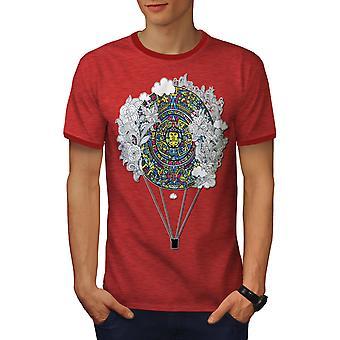 Aztec ornamento uomo Vintage Heather Red / RedRinger t-shirt | Wellcoda