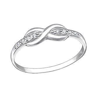 Infinity - 925 Sterling Zilver Jewelled ringen - W20174X