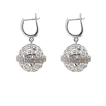 14 k White Gold cubic zirconia earrings