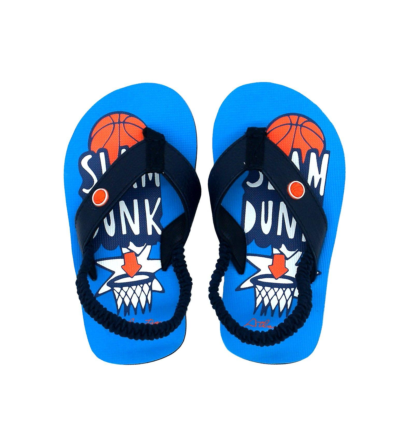 Atlantis Shoes Kids Supportive Cushioned Comfortable Sandals Flip Flops Slamdunk Navy