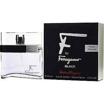 F By Ferragamo Pour Homme Black By Salvatore Ferragamo Edt Spray 3.4 Oz
