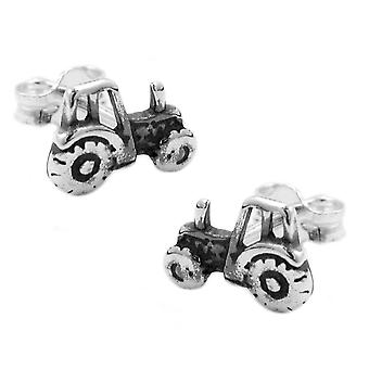 Stud earrings tractor silver 925