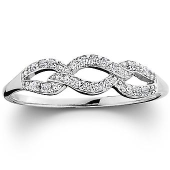 1/10ct Petite Diamond Infinity Ring 10K White Gold