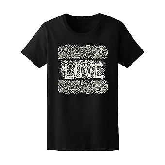 Blue Love And Flowers Tee Women's -Image by Shutterstock