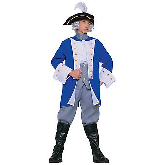 Colonial General George Washington patriotiska historiska Mens kostym STD