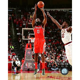 James Harden 2017-18 Action Photo Print