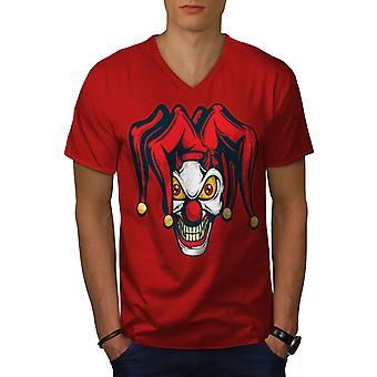 Böser Clown Männer RedV-Neck T-shirt   Wellcoda