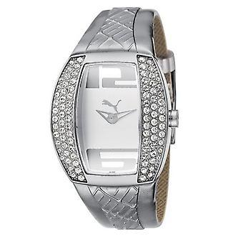 Cuidado com as pedras de vitalidade prata pulseira relógio das mulheres PU101172002 PUMA