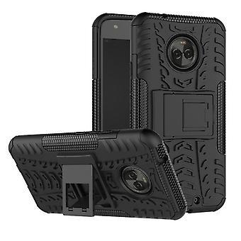 Para Motorola Moto X 4 híbrido caso 2 pieza SWL bolso al aire libre de la caja negra funda cubierta de protección