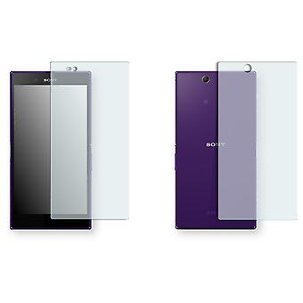 Sony Xperia Z ultra LTE display protector - Golebo crystal-clear protector (1 front / 1 rear)