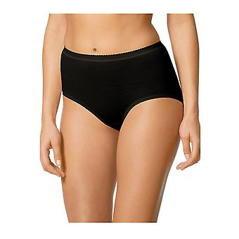 Mey Women 69302-3 Women's Exquisite Black Solid Colour Knickers Panty Full Brief