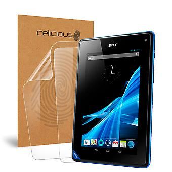 Celicious Vivid Invisible Glossy HD Screen Protector Film Compatible with Acer Iconia Tab B1 [Pack of 2]