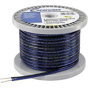 Cable de Conrad componentes 1243955 parlante 2 x 1,35 mm² azul, negro 100 m
