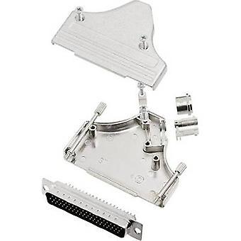 D-SUB pin strip set 45 ° Number of pins: 62 Solder bucket encitech MHDM35-37-HDP62-K 1 Set