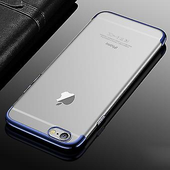 Cell phone cover case for Apple iPhone 6 / 6s plus transparent transparent blue