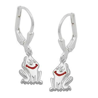 Sølv Brisur øredobber ørering FROSK 925 sterling sølv barn smykker