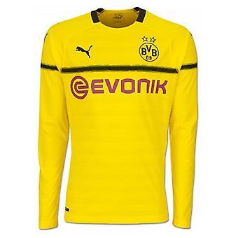 2018-2019 Borussia Dortmund Home UCL Long Sleeve Puma Shirt