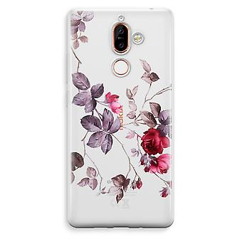 Nokia 7 Plus Transparent Case - Pretty flowers