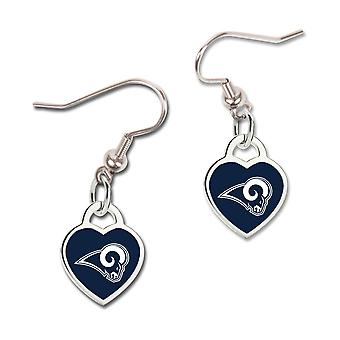 Wincraft ladies 3D heart earrings - NFL Los Angeles Rams