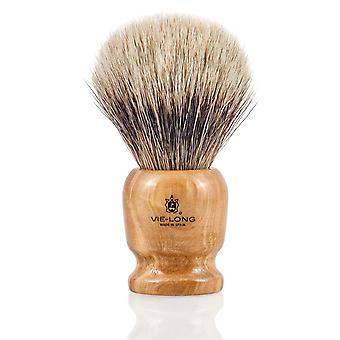 Vie-Long 16726 White Badger Shaving Brush