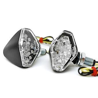Mini Custom LED Turn Signal Indicator Lights Lamp For Yamaha YZF 750 1000 Seca Maxim