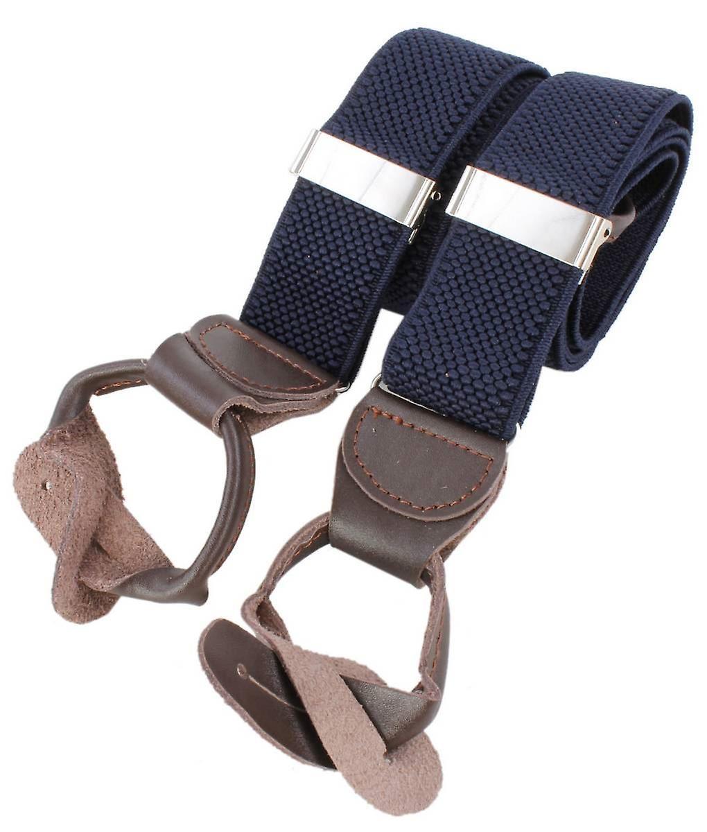 Knightsbridge cravates Luxury Braces - Navy