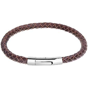 David Van Hagen Leather Bracelet - Light Brown