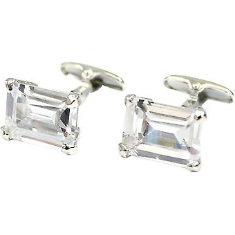 Posh and Dandy Rectangle Cufflinks - Silver